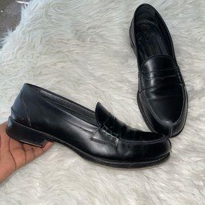 Jil sander leather flat loafers